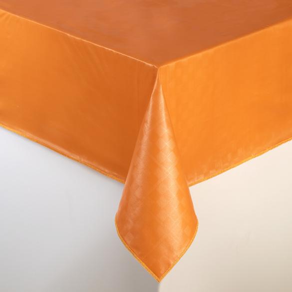 """Wachstischdecke """"Karo"""" orange 130 x 160 cm"""
