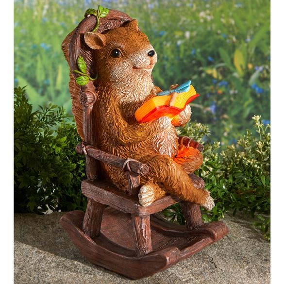 Solar-Eichhörnchen mit Buch
