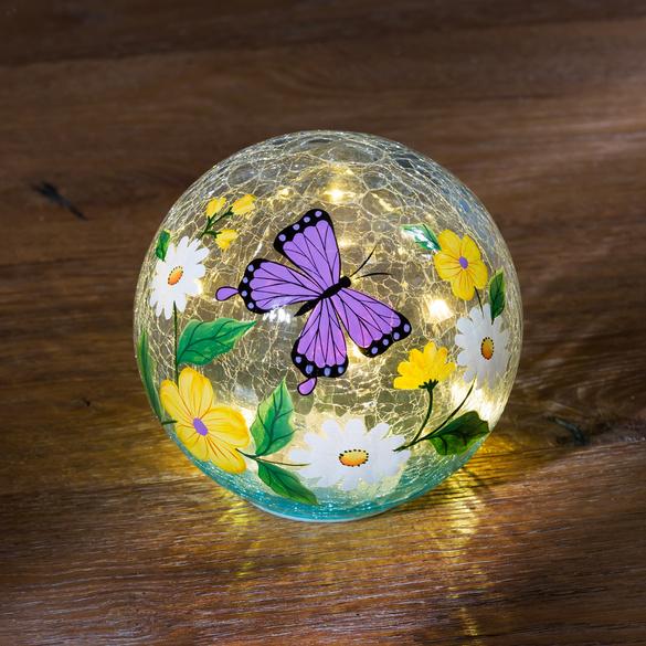 """LED-Glaskugel """"Schmetterling"""""""