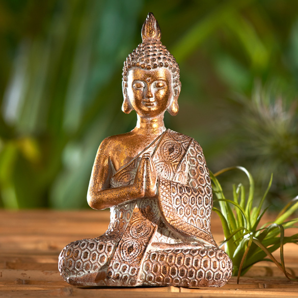 Buddha-Figur goldfarben