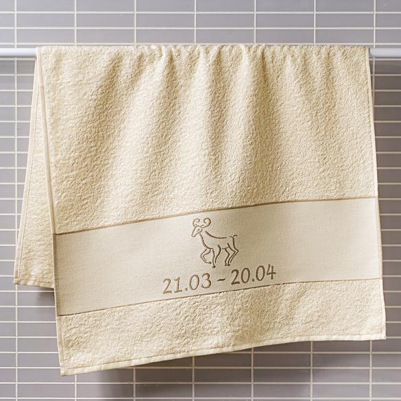 "Handtuch ""Widder"" beige Casa Bonita"