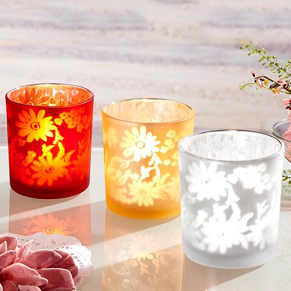 Teelichtglas silber