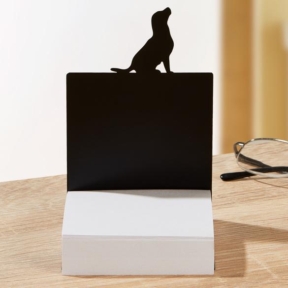 """Zettelbox """"Hund"""" mit Haftnotizen"""