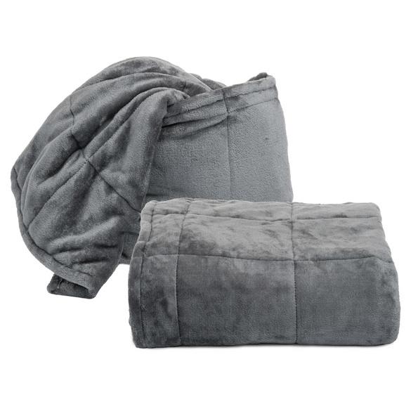 Kuscheldecke/Kissen 2-in-1 grau