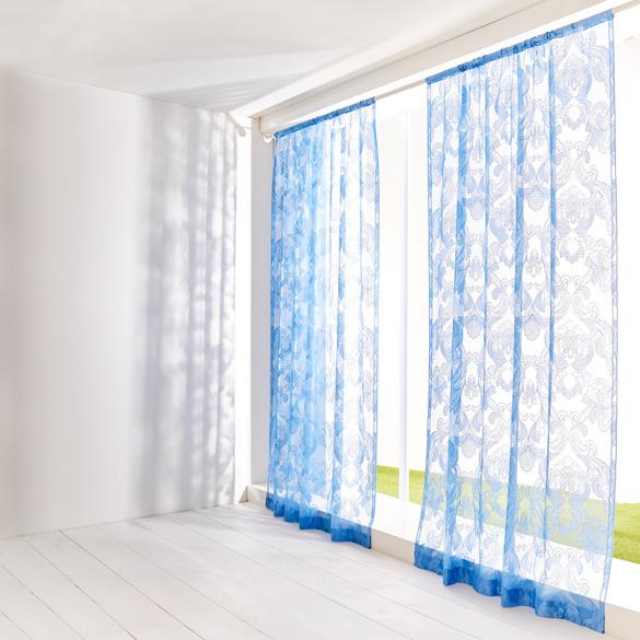 """Vorhang """"Arabesken"""" blau 140 x 230 cm"""
