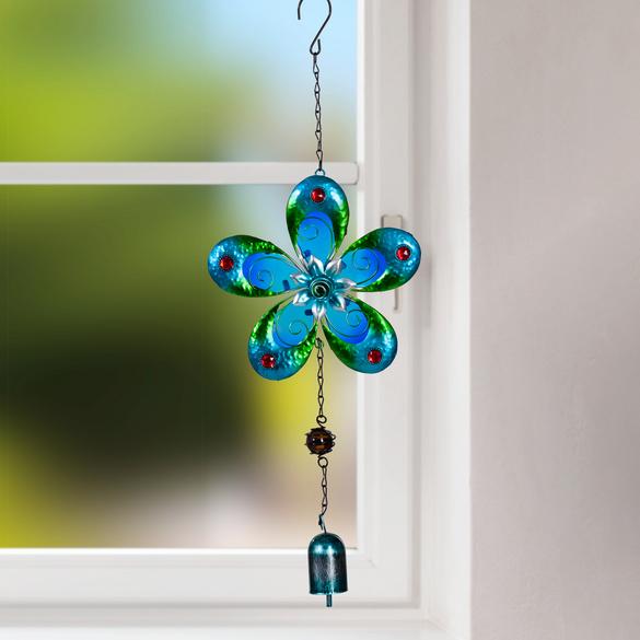 "Windspiel ""XL-Blüte"" blau"
