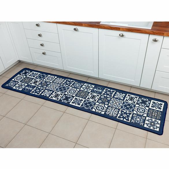 Küchenteppich blau 60 x 120 cm
