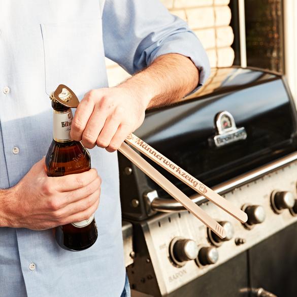 Grillzange mit Flaschenöffner