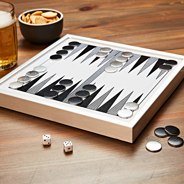 Metall-Backgammon