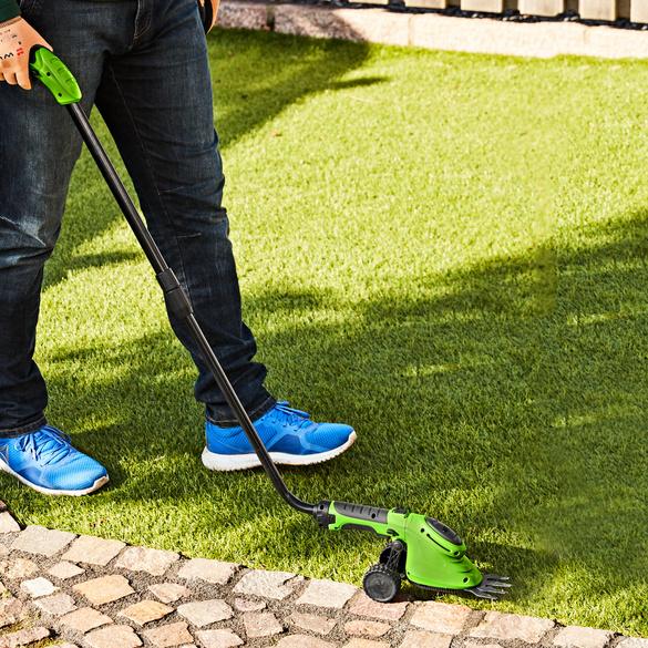 Gras- und Strauchschere mit Rollen