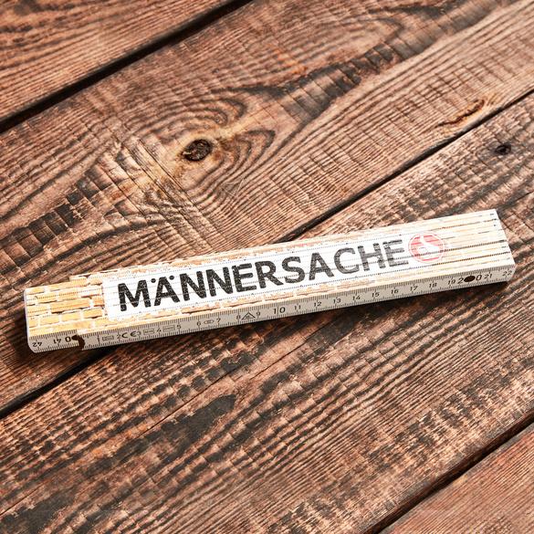 """Zollstock """"Männersache"""""""