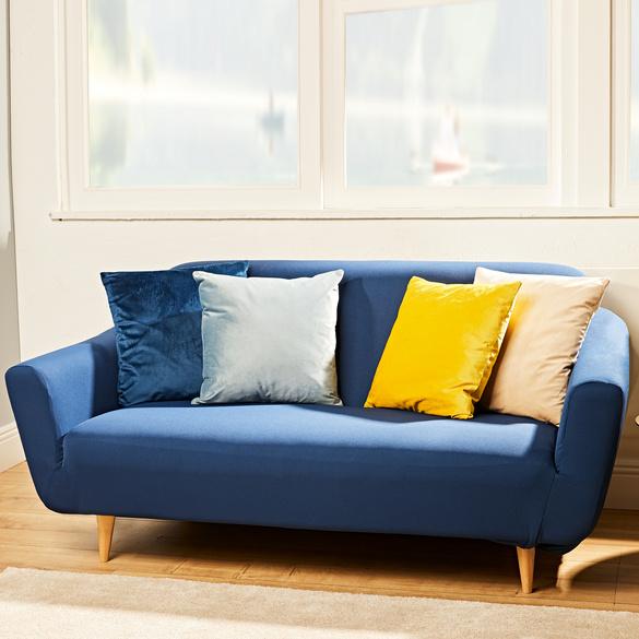 Sofaschoner 3-Sitzer blau bis 230 cm B