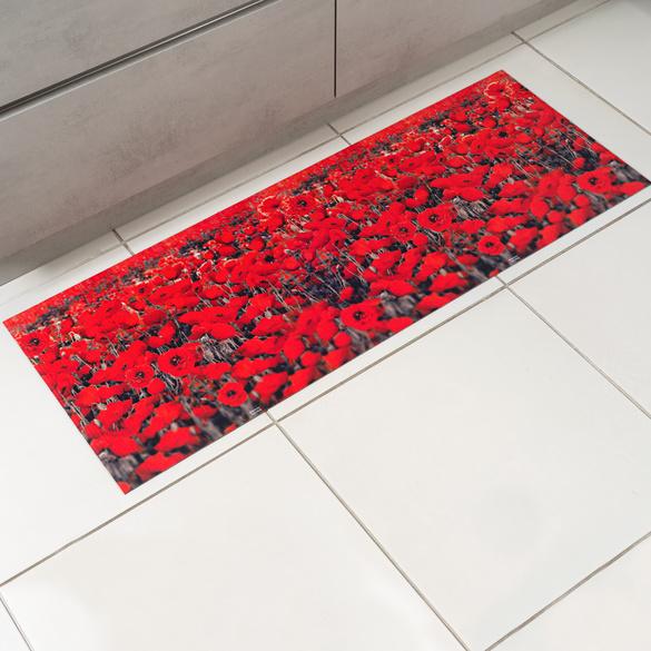 """Küchenteppich """"Mohnblumen"""" 52 x 190 cm"""