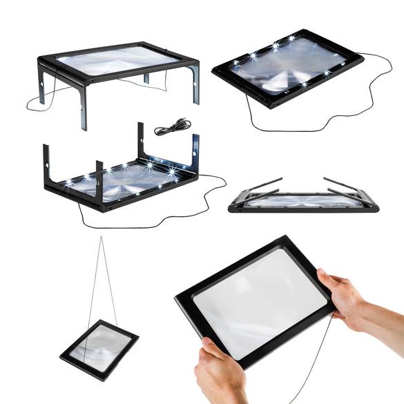 Vergrößerungsglas mit LED-Beleuchtung