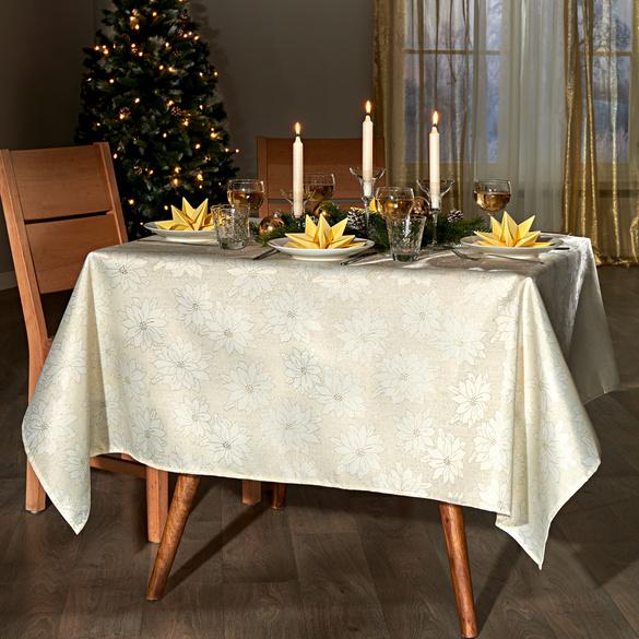 """Tischdecke """"Blüten"""" beige Casa Bonita, 130 x 160 cm"""