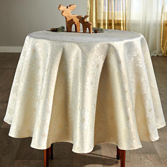 """Tischdecke """"Blüten"""" beige Casa Bonita, Ø 160 cm"""
