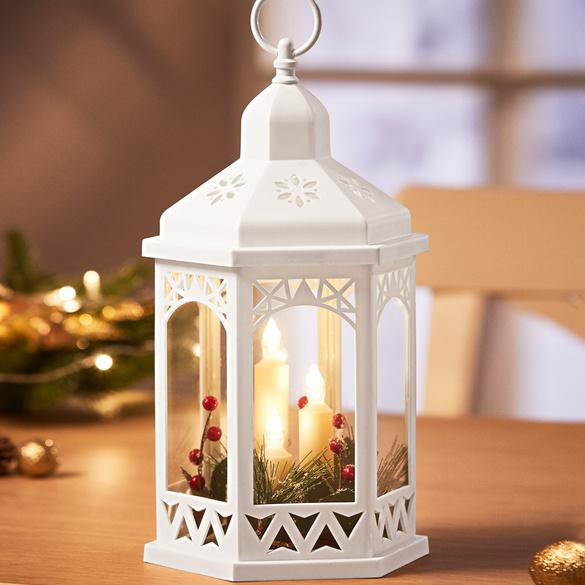 Laterne mit LED-Kerzen