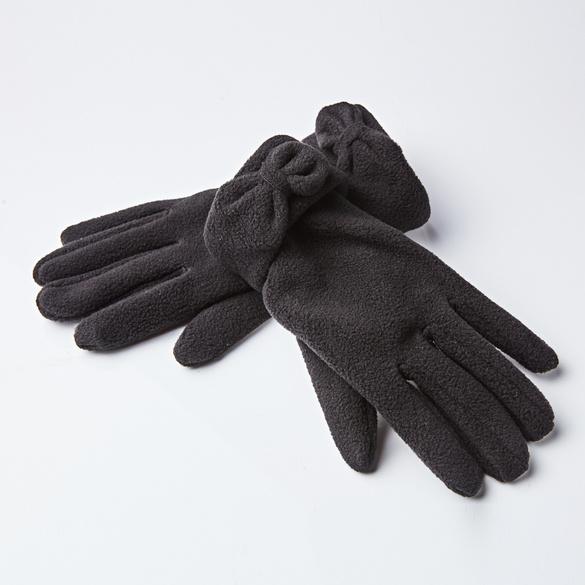 Handschuhe mit Schleife schwarz