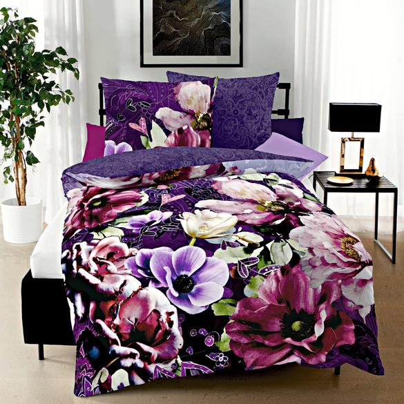 """Bettwäsche """"Blütentraum"""" lila"""