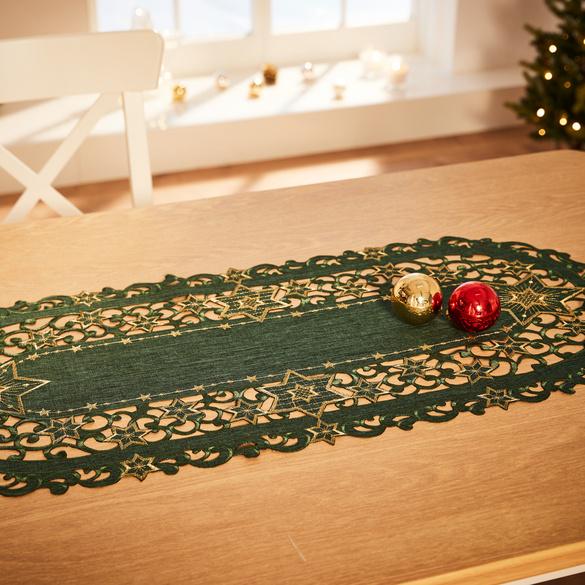 Tischläufer grün, 40 x 90 cm