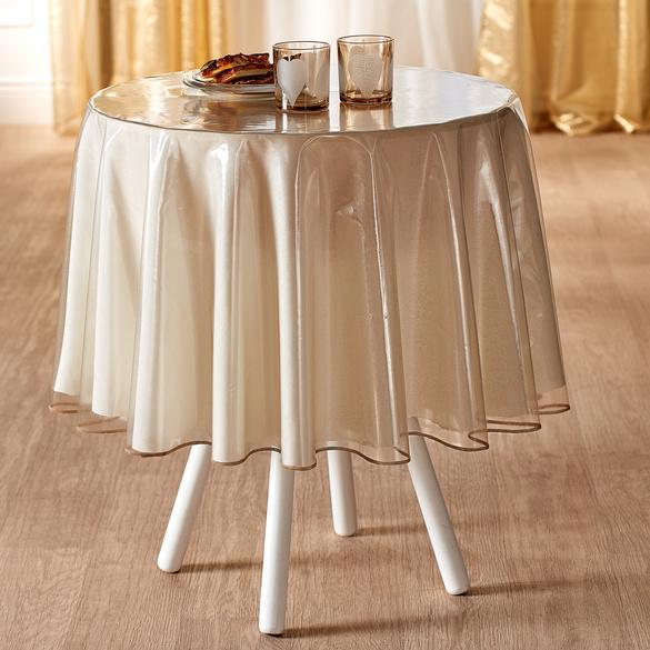 Glitter-Tischdecke, Ø 140 cm