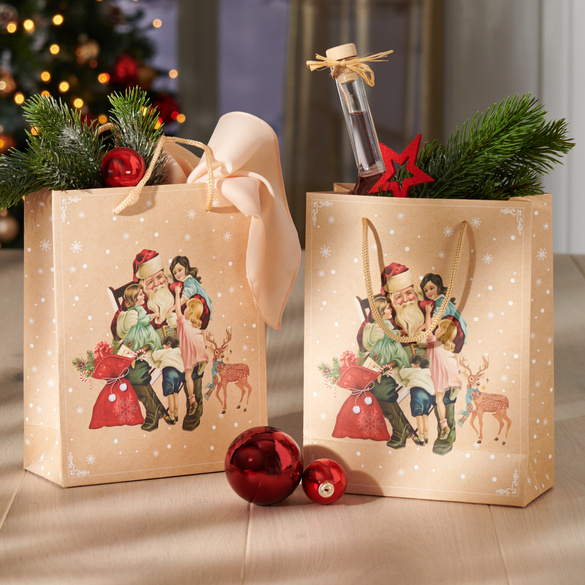 """Geschenktüten """"Santa"""", 2er-Set"""