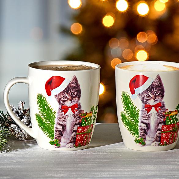 """Tasse """"Weihnachtskätzchen"""""""