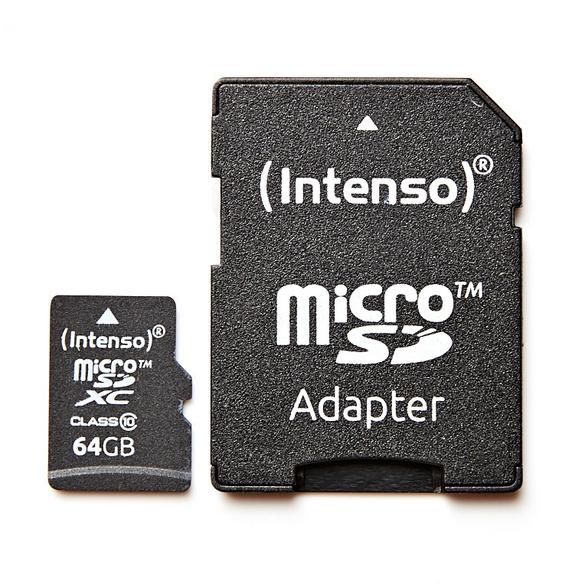 64 GB MicroSD mit Adapter