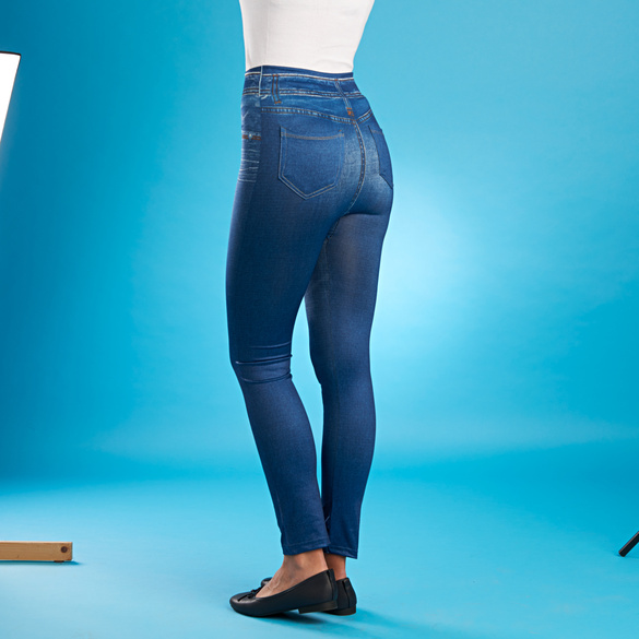 Slim-Jeggings blau