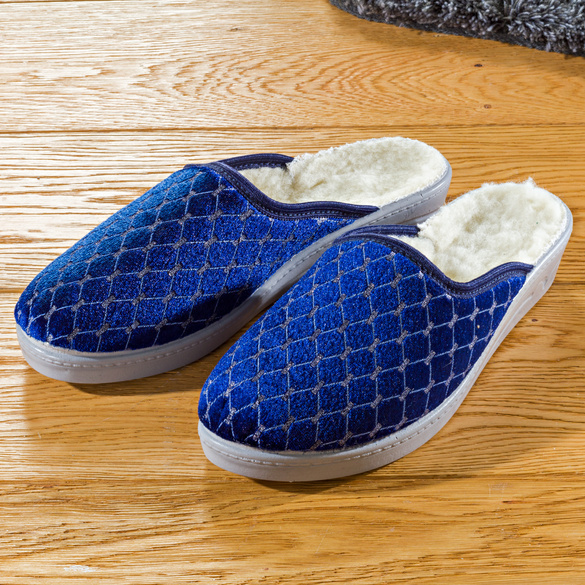 "Damen-Pantoffel ""Tabea"" blau"