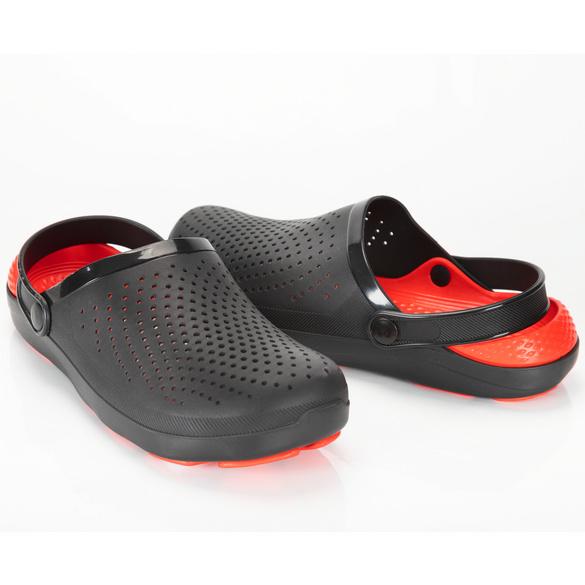 Clog Ole schwarz/rot