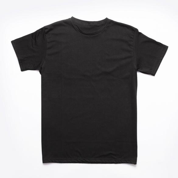 Rundhalsshirt schwarz