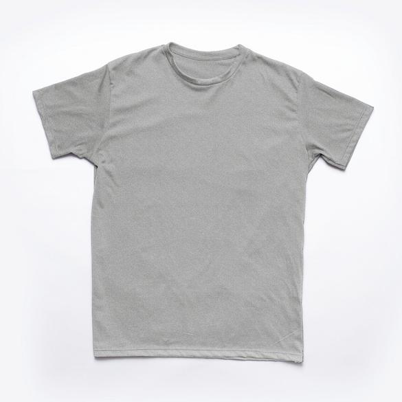 Rundhalsshirt grau-melange