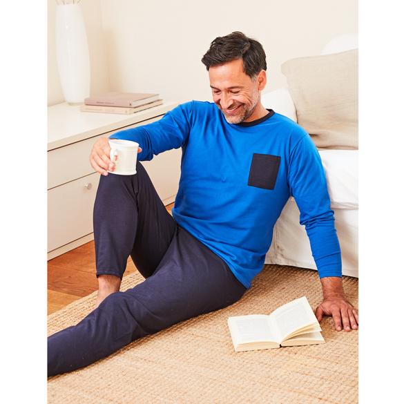 Pyjama hellblau/blau, 2-tlg.