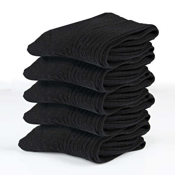 Baumwollsocken schwarz, 5er-Set