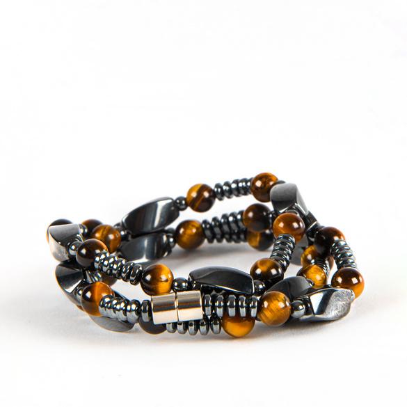 Hämatit-Armband mit Tigerauge