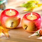"""2er-Set Teelichthalter """"Apfel"""""""
