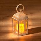 LED-Laterne goldfarben