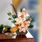 Orchideen-Gesteck champagnerfarben