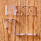 Fensterhaken transparent, 2er-Set