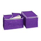 2 Ordnungsboxen, lila