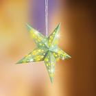 LED-Leuchtstern gestreift