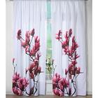 """Mikrofaser-Vorhang """"Magnolien"""", 140 x 230 vm"""