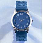 Stretch-Armbanduhr blau