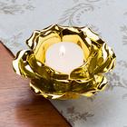 """Teelichthalter """"Blüte"""" goldfarben"""