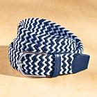 Flechtgürtel elastisch marine + marine/weiß, 2er-Set