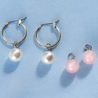 Ohrringe Perlen + Rosenquarz, 1 Paar
