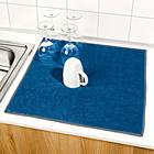 Abtropfmatte blau + grau, 2er-Set
