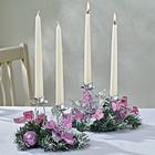 Kerzengesteck lila-silber