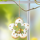 Blumenhänger mit Vogel